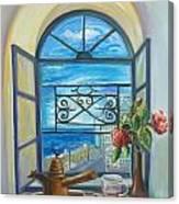 window to Jaffa Canvas Print