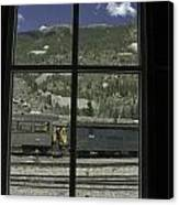 Window To The Rail Yard Canvas Print