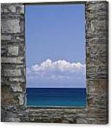 Window View At Fayette State Park Michigan Canvas Print