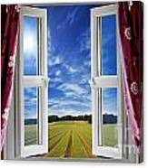 Window View Onto Arable Farmland Canvas Print