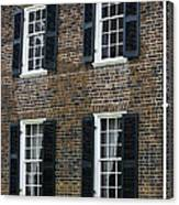 Windows At The Clover Hill Tavern Appomattox Virginia Canvas Print