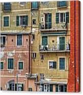 Windows Of Camogli Canvas Print