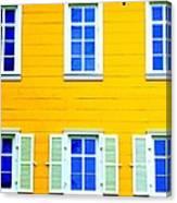 Windows On Yellow Canvas Print