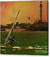 Windsurfer In Paradise Canvas Print