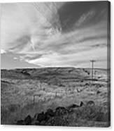 Windswept Hills Bw Canvas Print