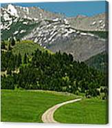 Windy Road To The Crazy Mountains Canvas Print