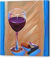 Wine And Cork Canvas Print