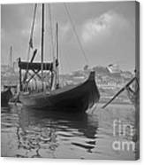 Wine Boats On Douro Canvas Print
