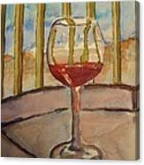 Wine By The Water Canvas Print