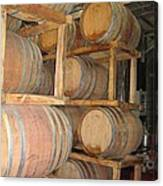 Wine Casks Canvas Print
