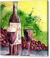 Wine For Two - 2 Canvas Print