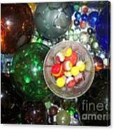 Wine Glass And Marbles Canvas Print