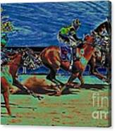 Winner By A Nose Canvas Print