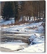 Winter Along The Delaware Canvas Print