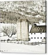 Winter Barn 3 Canvas Print