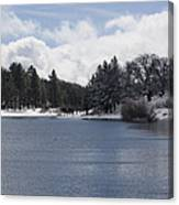Winter By The Lake Canvas Print