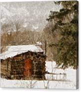 Winter Cabin 2 Canvas Print