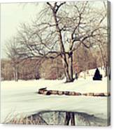Winter Day In The Park Canvas Print
