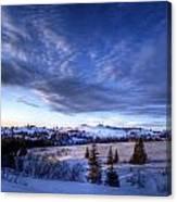 Winter Evening Clouds Canvas Print