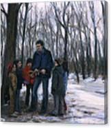Winter Explorers Canvas Print