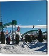 Winter Fun Quebec City Canvas Print