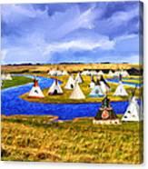 Winter Gathering Place Canvas Print