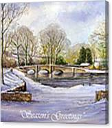 Winter In Ashford Xmas Card Canvas Print