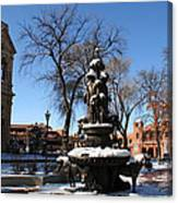 Winter In Cathedral Park Santa Fe Canvas Print