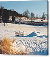 Winter In Granville Tennessee Canvas Print