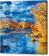 Winter In Salida -- Renoir Canvas Print