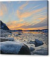 Winter In The Harbour Canvas Print