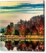 Winter Lake Fantasm Canvas Print