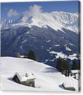 Winter Landscape In The Mountains Canvas Print