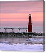 Winter Lighthouse Canvas Print