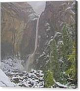 Winter Lower Yosemite Falls Canvas Print