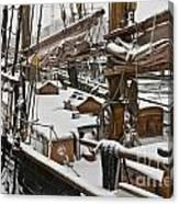 Winter On Deck Canvas Print