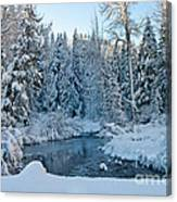 Winter On The Truckee River Canvas Print