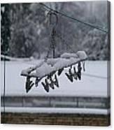 Winter Pegs Canvas Print