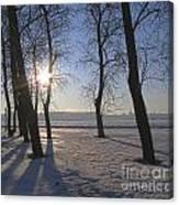 winter Peterburg Russia  Canvas Print