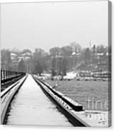 Winter Rails Canvas Print