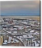 Winter Scene Land And Water Canvas Print