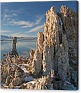 Winter Shoreline Mono Lake Canvas Print