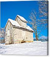 Winter Smoke House Canvas Print