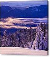 Winter Snow, Cascade Range, Oregon, Usa Canvas Print