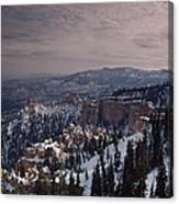 Winter Snow Covers The Landscape Canvas Print