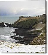 Winter Storm At Dunottar Canvas Print