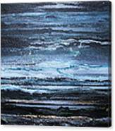 Winter Storms And Moonlight No1 Canvas Print