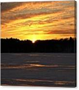 Winter Sunset II Canvas Print