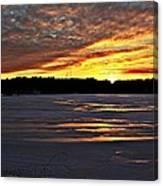 Winter Sunset Iv Canvas Print
