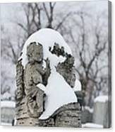 Winter Tombstone Canvas Print